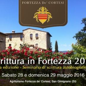 Ultimi giorni per iscriversi al seminario sull'autobiografia #ScritturaInFortezza a SanGimignano